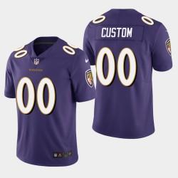 Männer Baltimore Ravens & 00 Individuelle Vapor Untouchable Limited Jersey - Purple