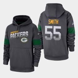 Männer Green Bay Packers und 55 Za'Darius Smith 100. Saison Sideline-Team-Logo PulloverHoodie - Anthrazit
