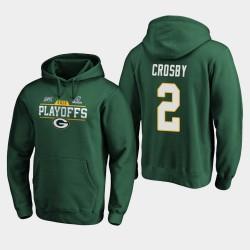 Männer Green Bay Packers Mason Crosby 2019 NFL Playoffs Bound Chip Schuss PulloverHoodie - Grün