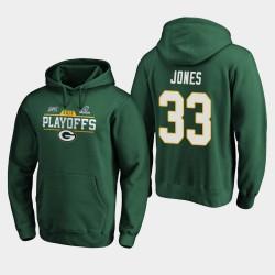 Männer Green Bay Packers Aaron Jones 2019 NFL Playoffs Bound Chip Schuss PulloverHoodie - Grün