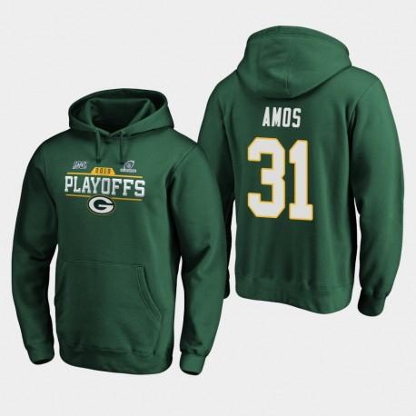 Männer Green Bay Packers Adrian Amos 2019 NFL Playoffs Bound Chip Schuss PulloverHoodie - Grün
