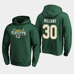 Männer Green Bay Packers Jamaal Williams 2019 NFL Playoffs Bound Chip Schuss PulloverHoodie - Grün