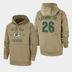 Herren Darnell Savage Jr. Green Bay Packers 2019 Salute to Service-Sideline Therma PulloverHoodie - Tan