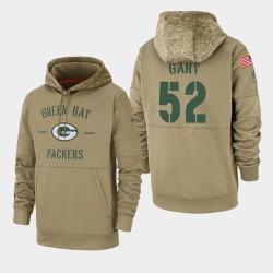Herren Rashan Gary Green Bay Packers 2019 Salute to Service-Sideline Therma PulloverHoodie - Tan