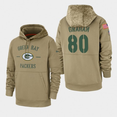 Männer Jimmy Graham Green Bay Packers 2019 Salute to Service-Sideline Therma PulloverHoodie - Tan