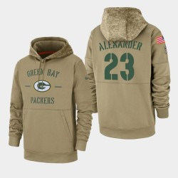 Herren Jaire Alexander Green Bay Packers 2019 Salute to Service-Sideline Therma PulloverHoodie - Tan
