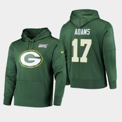 Männer Green Bay Packers und 17 Davante Adams 100. Saison Primary Logo PulloverHoodie - Grün