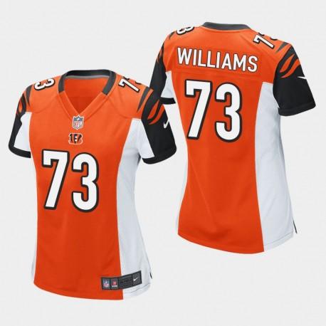 Frauen Cincinnati Bengals und 73 Jonah Williams 2019 NFL Draft Spiel Jersey - Orange