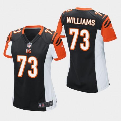 Frauen Cincinnati Bengals und 73 Jonah Williams 2019 NFL Draft Spiel Jersey - Schwarz