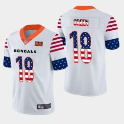 Männer Cincinnati Bengals und 18 A. J. Grüner Independence Day Americana Stars # Stripes Trikot - Weiß