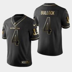 Männer Cincinnati Bengals # 4 Randy Bullock Golden Edition Vapor Untouchable Limited Trikot - Schwarz