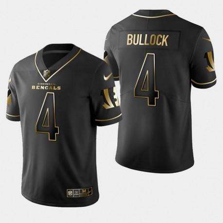 Männer Cincinnati Bengals & 4 Randy Bullock Golden Edition Vapor Untouchable Limited Jersey - Schwarz