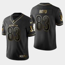 Männer Cincinnati Bengals und 83 Tyler Boyd Golden Edition Vapor Untouchable Limited Trikot - Schwarz