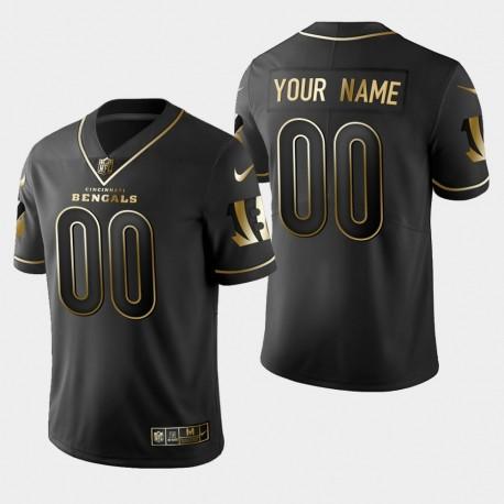 Männer Cincinnati Bengals & 00 Benutzerdefinierte Golden Edition Vapor Untouchable Limited Jersey - Schwarz