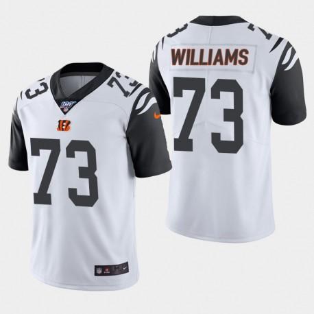 Männer Cincinnati Bengals und 73 Jonah Williams 100. Saison Farbrausch Jersey - Weiß
