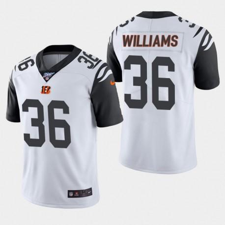 Männer Cincinnati Bengals und 36 Shawn Williams 100. Saison Farbrausch Jersey - Weiß