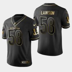 Männer Cincinnati Bengals und 58 Carl Lawson Golden Edition Vapor Untouchable Limited Trikot - Schwarz