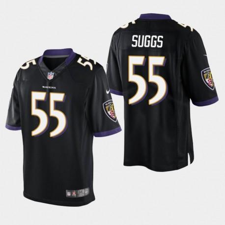 Männer Baltimore Ravens & 55 Terrell Suggs Vapor Untouchable Limited Jersey - Schwarz