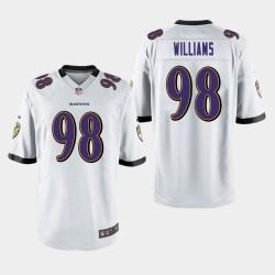 Männer Baltimore Ravens # 98 Brandon Williams Spiel Trikot - Weiß