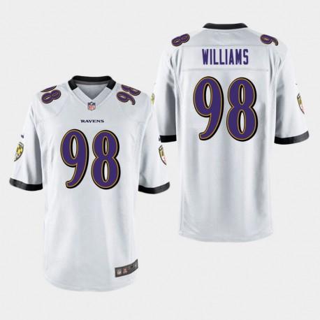 Männer Baltimore Ravens & 98 Brandon Williams Spiel Jersey - Weiß