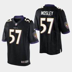 Männer Baltimore Ravens # 57 C. J. Mosley Vapor Untouchable Limited Trikot - Schwarz