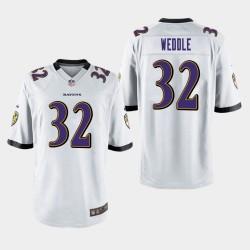 Männer Baltimore Ravens # 32 Eric Weddle Spiel Trikot - Weiß