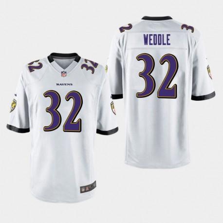 Männer Baltimore Ravens & 32 Eric Weddle Spiel Jersey - Weiß