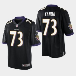 Männer Baltimore Ravens # 73 Marshal Yanda Vapor Untouchable Limited Trikot - Schwarz