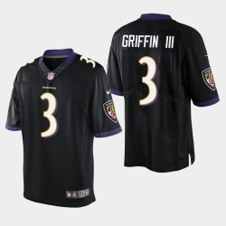 Männer Baltimore Ravens # 3 Robert Griffin III Vapor Untouchable Limited Trikot - Schwarz