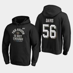 Männer New Orleans Saints # 56 Demario Davis 2019 NFC South Division Champion Abdeckung Zwei PulloverHoodie - Schwarz