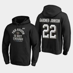 Männer New Orleans Saints # 22 Chauncey Gardner-Johnson 2019 NFC South Division Champion Abdeckung Zwei PulloverHoodie - Schwarz
