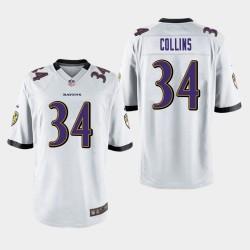 Männer Baltimore Ravens # 34 Alex Collins Spiel Trikot - Weiß