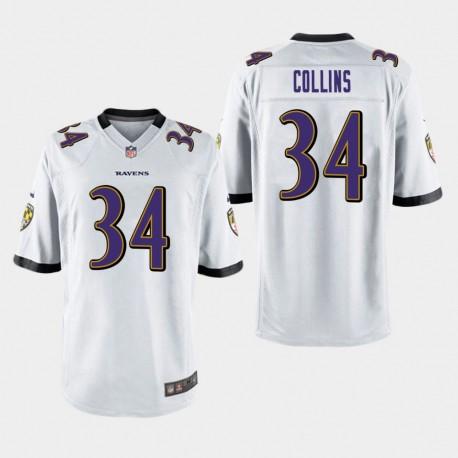 Männer Baltimore Ravens & 34 Alex Collins Spiel Jersey - Weiß