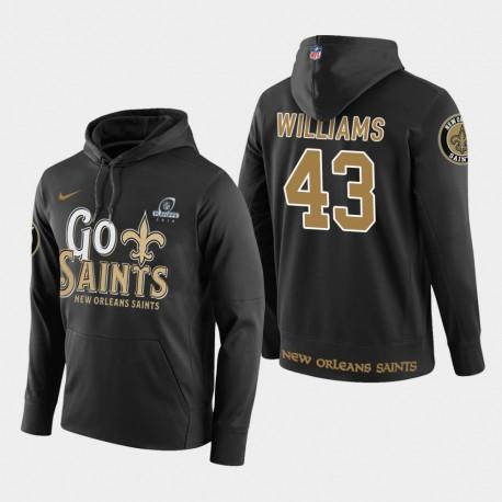 Männer New Orleans Saints & 43 Marcus Williams 2018 NFL Playoffs PulloverHoodie - Schwarz