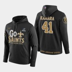 Männer New Orleans Saints # 41 Alvin Kamara 2018 NFL Playoffs PulloverHoodie - Schwarz