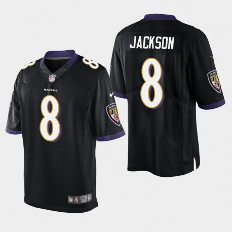 Männer Baltimore Ravens & 8 Lamar Jackson Vapor Untouchable Limited Jersey - Schwarz