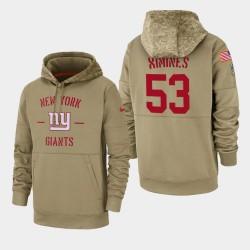 Männer New York Giants und 53 Oshane Ximines 2019 Salute to Service-Sideline Therma Hoodie - Tan