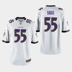 Männer Baltimore Ravens # 55 Terrell Suggs Spiel Trikot - Weiß