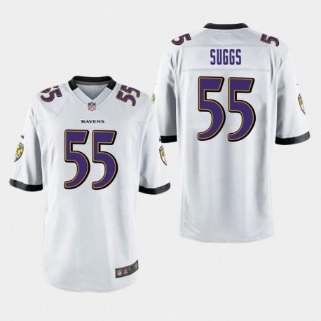 Männer Baltimore Ravens & 55 Terrell Suggs Spiel Jersey - Weiß