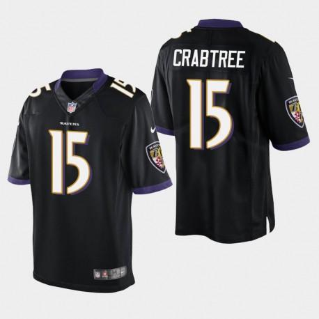 Männer Baltimore Ravens & 15 Michael Crabtree Vapor Untouchable Limited Jersey - Schwarz