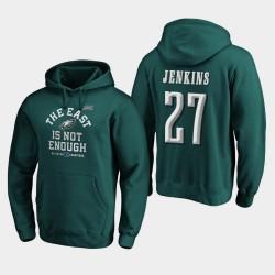 Männer Philadelphia Eagles Malcolm Jenkins 2019 NFC East Division Champion Abdeckung Zwei PulloverHoodie - Mitternachts Grün