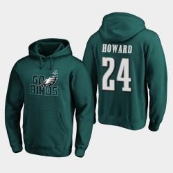 Männer Philadelphia Eagles Jordan Howard 2019 NFL Playoffs Bound Heimatstadt Checkdown PulloverHoodie - Mitternachts Grün