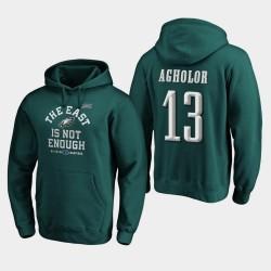 Männer Philadelphia Eagles Nelson Agholor 2019 NFC East Division Champion Abdeckung Zwei PulloverHoodie - Mitternachts Grün