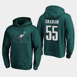Männer Philadelphia Eagles Brandon Graham 2019 NFL Playoffs Bound Heimatstadt Checkdown PulloverHoodie - Mitternachts Grün