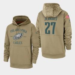 Männer Malcolm Jenkins Philadelphia Eagles 2019 Salute to Service-Sideline Therma PulloverHoodie - Tan