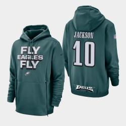 Männer Philadelphia Eagles # 10 DeSean Jackson Sideline Lockup PulloverHoodie - Grün