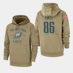 Männer Zach Ertz Philadelphia Eagles 2019 Salute to Service-Sideline Therma PulloverHoodie - Tan