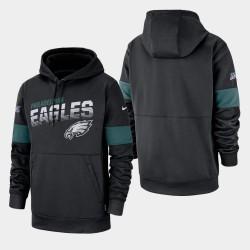 Männer Philadelphia Eagles 100. Saison Sideline-Team-Logo PulloverHoodie - Schwarz