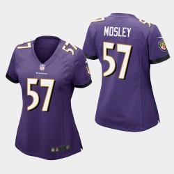 Frauen Baltimore Ravens # 57 C. J. Mosley Spiel Trikot - Purple