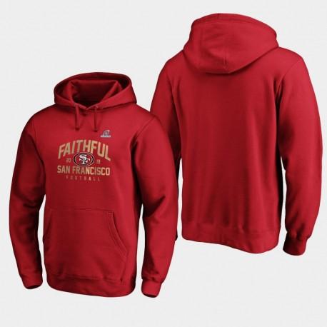 Männer San Francisco 49ers 2019 NFL Playoffs Bound Heimatstadt Checkdown PulloverHoodie - Scarlet